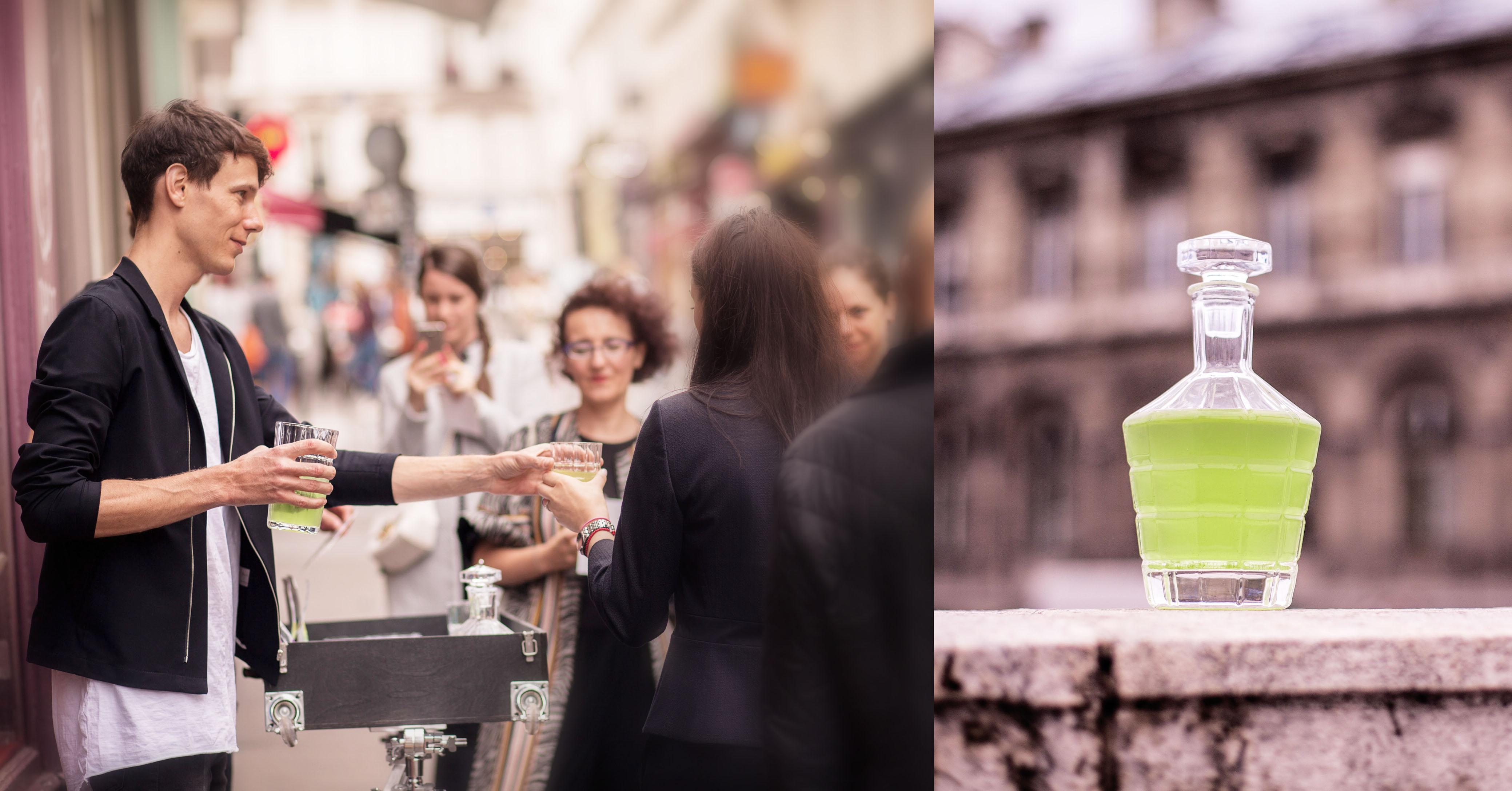 Talks and drinks on the street: Suikyo Mizudashi Sencha